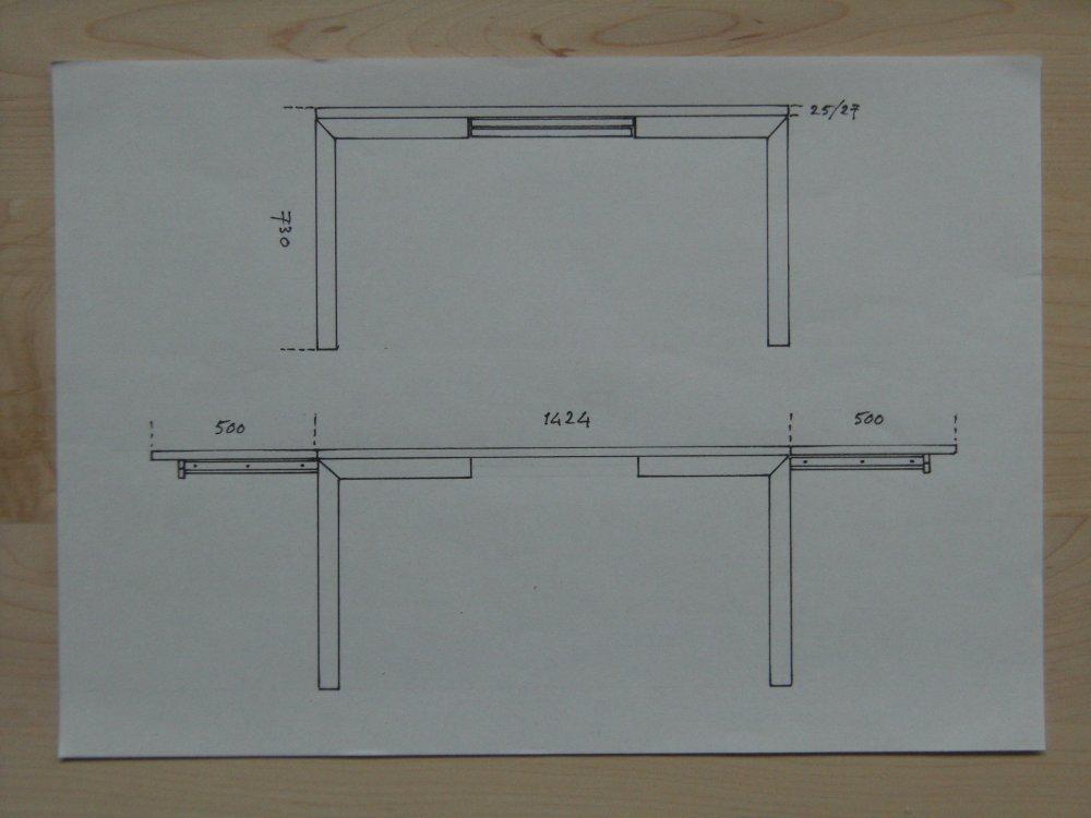 Uittrekbare Houten Tafel.Een Uitschuifbare Tafel Op Maat Kalander Meubelmakerij Voor