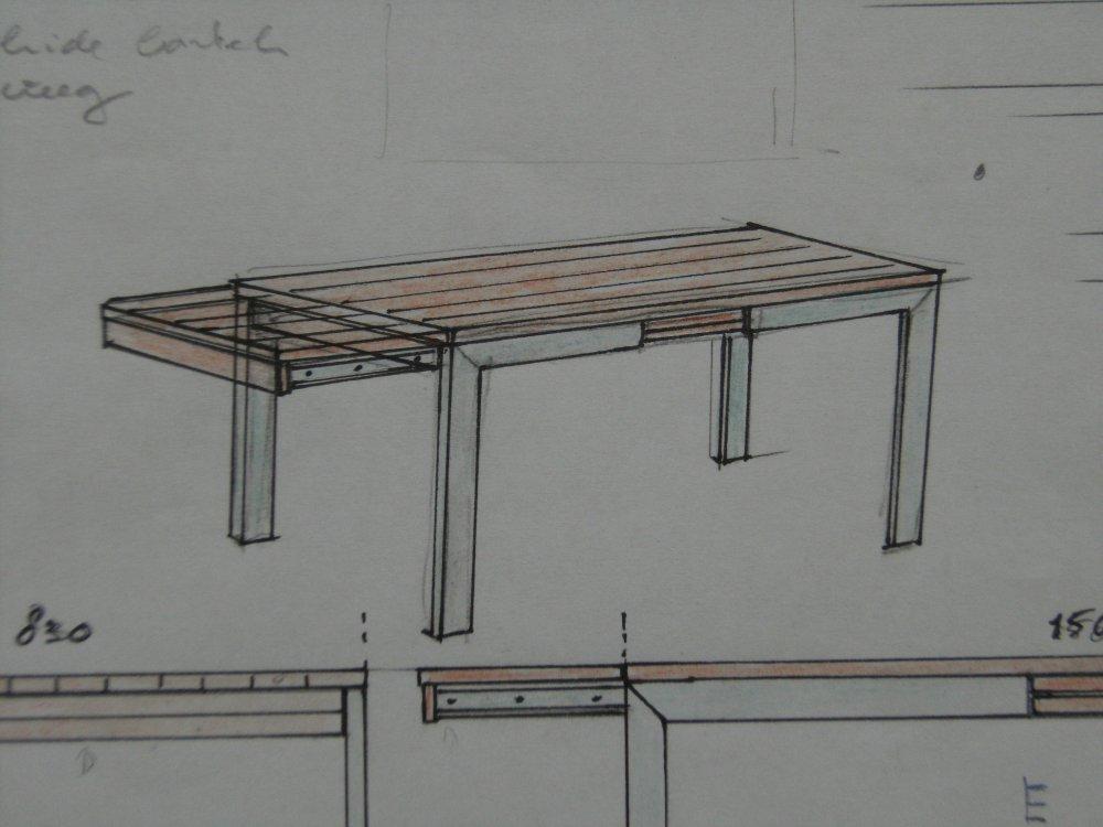 Uitschuifbare eettafel maken loungeset 2017 - Tafel een italien kribbe ontwerp ...