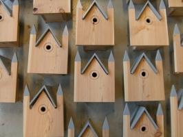 6 Vogelhuisje af 6